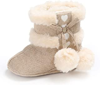 Wollanlily 冬季婴儿幼儿女婴男童保暖雪地靴软底防滑学步鞋软帮靴婴儿鞋