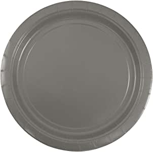 "JAM Paper Round Paper Party Plates - 50/pack 银色 Medium (9"")"