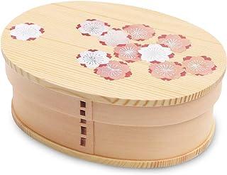 CtoC JAPAN Select 便当盒 天然杉 700ml 便当盒 弯曲 泡泡澡 雅樱 CTCBENTO-7