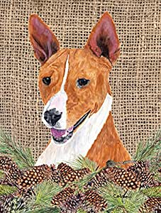 Caroline's Treasures Basenji Flag Made or Printed in the USA 多色 小号
