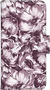 智能手机壳 手册式 对应全部机型 印刷手册 wn-701top 套 手册 花朵图案 UV印刷 壳WN-PR352382-S AQUOS PHONE ef WX05SH B款