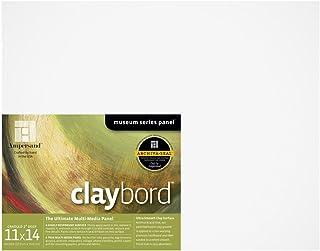 Ampersand 博物馆系列 Claybord 面板用于油漆和墨水 2 英寸深 11X14 CBSWC11