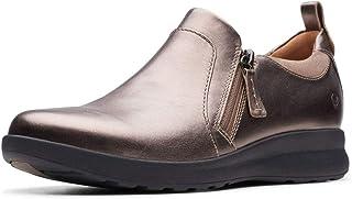 Clarks 女士 Un Adorn Zip 乐福鞋