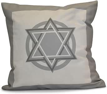 e 来自设计 hanukkah 闪亮星星假日印花户外枕头