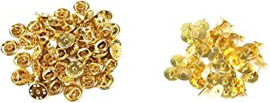 yueton 50 片装扎带别针和手拿包 金色 pin backs