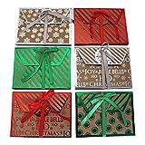 All Holiday 圣诞牛皮纸箔礼品卡袋-各式节日款设计(共18个)