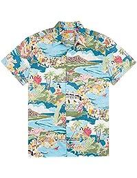 Tori Richard Boat Day Aloha 棉草坪野营衬衫 - 湖蓝色