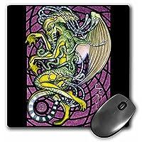 3drose 20.3 x 20.3 x 0.6 厘米 Dread cthulhu lovecraft mythos elder god horror art mauspad (mp 156833 _ 1)