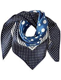 [光束斯 设计] 围巾 丝绸 蓝色