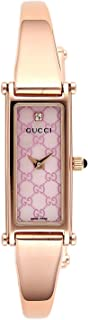 [古驰]GUCCI 腕表 1500 粉珍珠色表盘 不锈钢 (PGPVD)外壳 搭扣式表带 钻石YA015559 女士