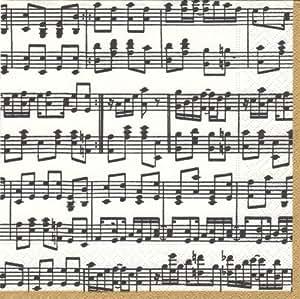 娱乐 Caspari Musica 纸鸡尾*餐巾纸 黑色 Cocktail 11020C