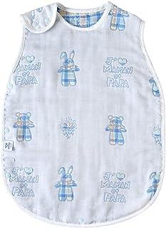 Souleiado Mon Bebe Cheri 6层纱布睡袋 水色 ベビーサイズ