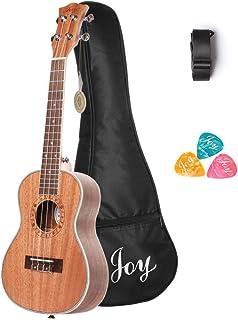 """Joy JOY311 Soprano Sapele Ukulele 带包JOY314 24"""" Mahogany Soprano Ukulele Kit"""