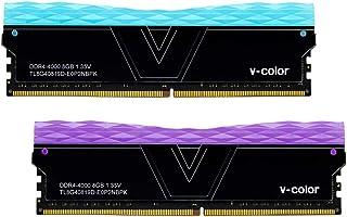V-Color Prism II RGB 16GB(2 x 8GB)DDR4 4000MHz(PC4-32000)台式机内存模块RAM(TL8G40819D-E0P2NBPK)