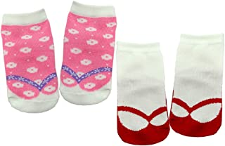 Anna Nicola 2双装 日式花纹袜子 1145 日本制造 粉色 7-9cm