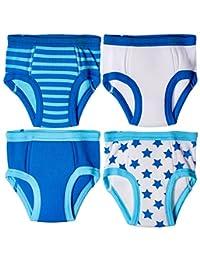 Trimfit Little Boys Waffle Cotton Stars & Stripes Training Pants, 4-Pack