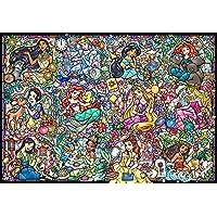 1000片 拼圖 迪士尼公主收藏 彩色玻璃 【彩繪藝術】(51.2x73.7cm)