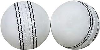 KSZ TRADERS 板球皮球(2 件套)A 级手工缝制白色