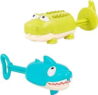 Battat 的 B 玩具 - Splishin' Splash 动物水喷水组合包 - 适合儿童的 夏天和水玩具(2 件装)