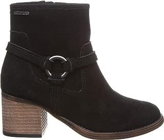 Bearpaw Mica 女士高跟拉链麂皮靴黑色 - 8 中号