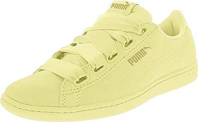 PUMA 女士 Vikky 丝带运动鞋 柔和淡黄色荧光流光 5.5