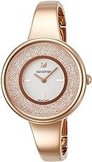 [施华洛世奇]SWAROVSKI 腕表 水晶线 纯银 粉金 石英表 5269250 女士 【平行进口商品】