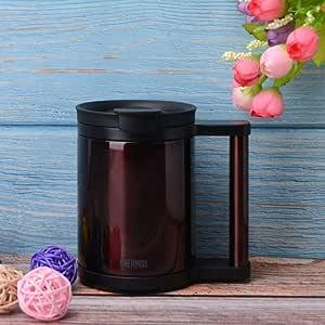 日本正品进口膳魔师保温杯保冷不锈钢马克咖啡牛奶简约带盖办公室酒红色 JCP280 280ml