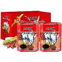 ZEK 缤纷什锦饼干铁盒装600g 马来西亚进口休闲零食品 (600g*2盒)