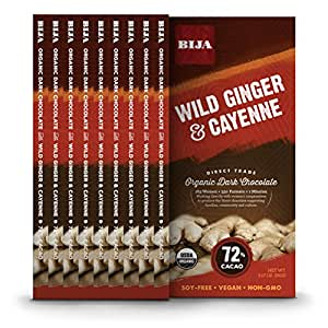 Bija Chocolates, Cayenne/Wild Ginger, 3.17 Ounce (Pack of 10)