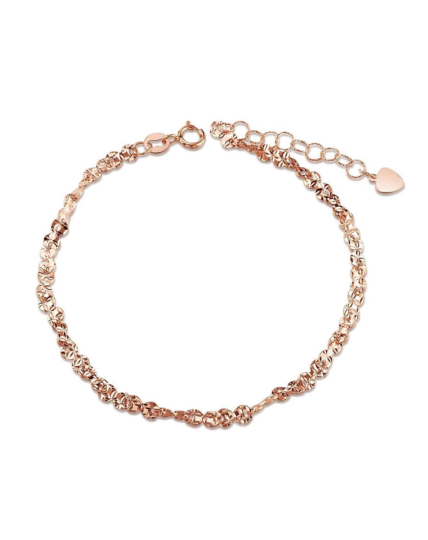 金马珠宝 18k玫瑰彩金新品手链hb00052r (18k 玫瑰金)