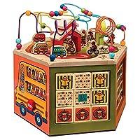 B.Toys 比乐 青年大学活动中心 木立方 多功能益智木制百宝箱玩具 认识图形数字 大号青年大学 早教 1岁+ BX1105F 婴幼儿童益智玩具 礼物
