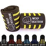 WOD Nation 腕带腕部护腕带(30.48cm、45.72cm 或 60.96cm)- 男女皆宜 - 力量训练、举重、力量举重 - 举重 + 包括免费手提包