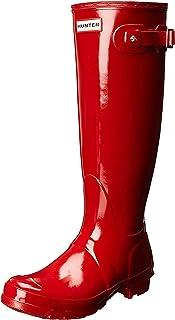 HUNTER Damen Original Tall Gloss Stiefel, Rose