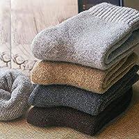 Miloxien 米珞玺恩 冬季男女士羊毛加绒加厚毛圈袜毛圈袜子加厚款保暖纯色中筒棉袜子