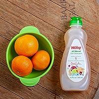 Nuby All Natural Dish Detergent With Citroganix, Lemon Lime, 10 Fluid Ounce