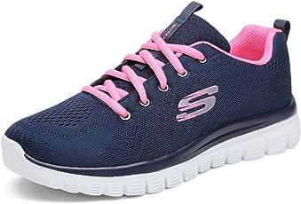 Skechers 斯凯奇 SKECHERS SPORT系列 女 绑带运动鞋 12615-NVHP