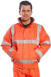 Portwest Hi Vis Bomber Jacket GO/RT URT32 橙色,黄色,柠檬绿和蓝色 X-Large