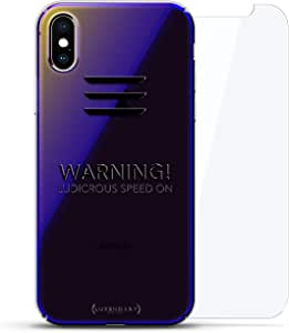 Luxendary 渐变系列 360 套装:透明超薄硅胶保护套 + 适用于 iPhone Xs Max 的钢化玻璃(6.5 英寸)LUX-IMXCRM2B360-LUDICROUS1 ALL THINGS ELON: LUDICROUS SPEED! TESLA FAN CASE 蓝色(Dusk)