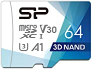 Silicon Power microSD 卡 2019年模型 【Amazon.co.jp限定】SP064GBSTXDU3V20AB 64GB