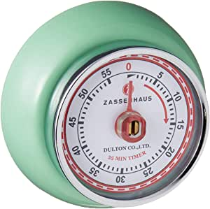 Zassenhaus Retro Collection 'Speed' - Kitchen Timer with Magnet - Times up to 55 Minutes - Various Colours