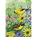 Toland Home Garden Floral Finches 12.5 x 18 Inch Decorative…