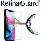 RetinaGuard 抗蓝光钢化玻璃屏幕保护膜 适用于 iPhone X - SGS 和 Intertek 测试 - 阻挡过多的有害蓝光,减少眼部*和眼部应变(透明)
