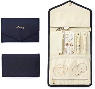 旅行首饰收纳盒和储物盒,适用于女士女孩防水便携式卷包大容量旅行夹,可放置项链、戒指、耳环、手镯、手表