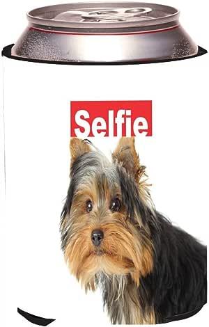 "Rikki Knight RKws-KOOZIE-45037 ""Selfie Yorkie Dog Design"" Beer Can/Soda Drink Cooler Koozie"