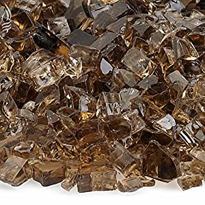 American fireglass 4.5 kilogram Fire GLASS with Fireplace GLASS and Fire PIT GLASS 同色 1/4 Inch x 10 Pounds