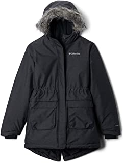 Columbia Girl's Nordic Strider Down Insulated Synthetic Top Jacket - Black, Size - X-Large