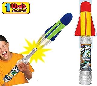 JA-RU 大号儿童火箭发射器玩具套装 Air Max 空气泵(1 个组合颜色)手拍火箭玩具适合儿童和成人。 非常适合户外游戏派对。 673-1A 1 Unit Air Max Pump Rocket