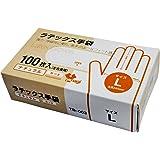 一次性 乳胶手套 自然色 左右通用 100张装 Lサイズ TB-003