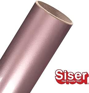 Siser EasyWeed HTV 15 x 20 英尺卷 - 热转印乙烯基 Electric Rose Gold EW15x20ROLL44
