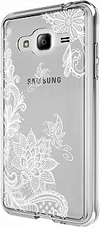 Galaxy J3 手机壳、Galaxy J3V 手机壳、Skmy 防震硬质聚碳酸酯+ TPU 防刮手机壳,适用于三星 Galaxy J3 V/J36V、Galaxy Sky/Sol、Galaxy Amp Prime、Galaxy Express PrimeGalaxy J3 Lace Flower